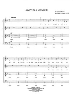 Away In A Manger SATB