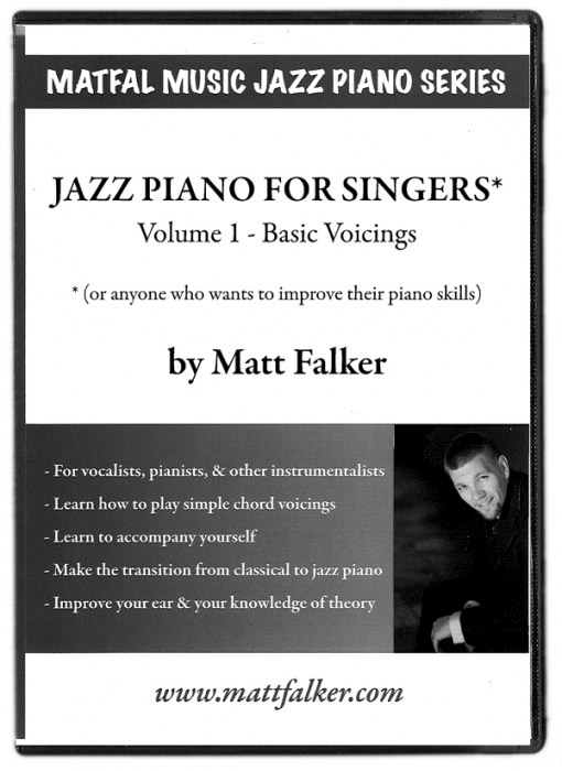 Dvd Jazz Piano For Singers Volume 1 Sound Music Publications
